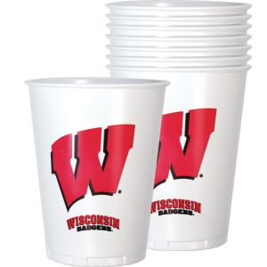Wisconsin Badgers Plastic Cups 8ct