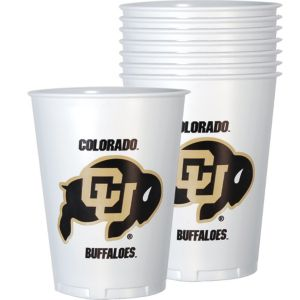 Colorado Buffaloes Plastic Cups 8ct