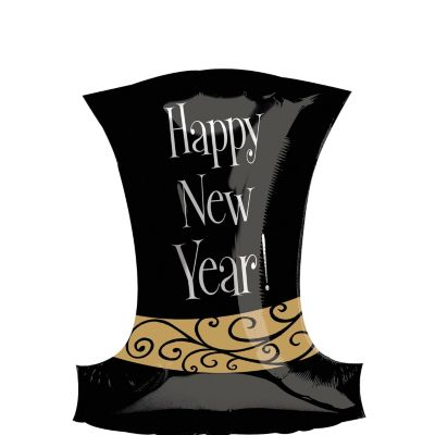 Foil Top Hat New Years Balloon