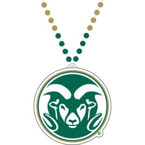 Colorado State Rams Pendant Bead Necklace