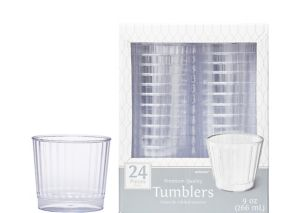 CLEAR Premium Plastic Cups 24ct