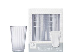 CLEAR Premium Plastic Cups 16ct