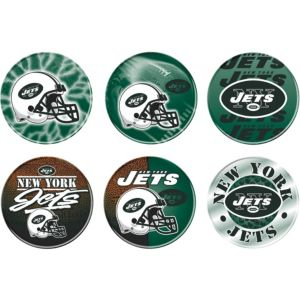 New York Jets Buttons 6ct