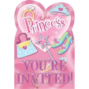 Princess Invitations 8ct