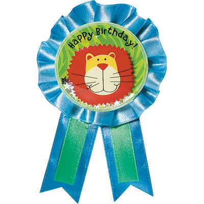 Jungle Animals Guest of Honor Ribbon