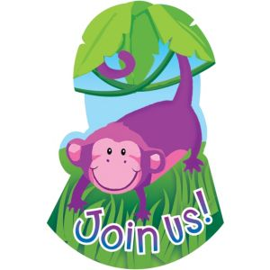 Jungle Animals Invitations 8ct