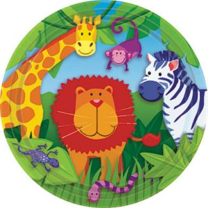 Jungle Animals Lunch Plates 8ct