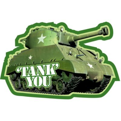 Camouflage Thank You Notes 8ct