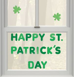 St. Patrick's Day Gel Cling Decals 22ct