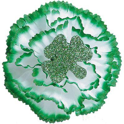 Glitter Carnation Boutonniere 3in