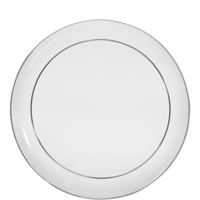 CLEAR Plastic Lunch Plates 24ct