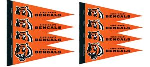 Cincinnati Bengals Pennants 8ct