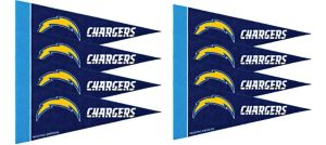 Los Angeles Chargers Pennants 8ct