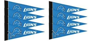 Detroit Lions Pennants 8ct