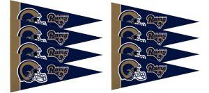 Los Angeles Rams Pennants 8ct