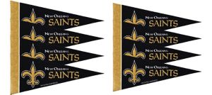 New Orleans Saints Pennants 8ct