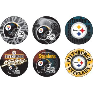 Pittsburgh Steelers Buttons 6ct
