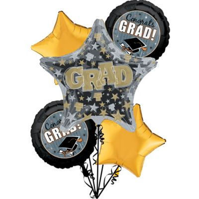 Graduation Balloon Bouquet 6pc - Grad Honors