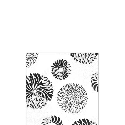 Cascade Black & White Beverage Napkins 20ct