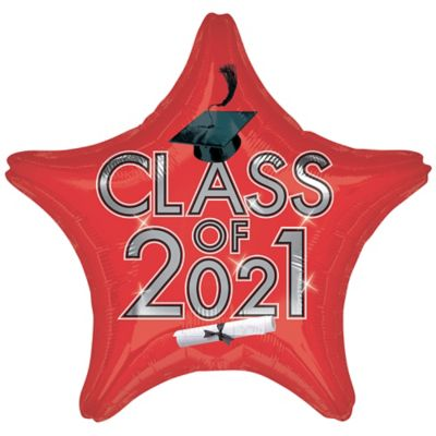 Star Class of 2015 Red Graduation Balloon
