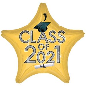 Gold Class of 2017 Graduation Star Balloon