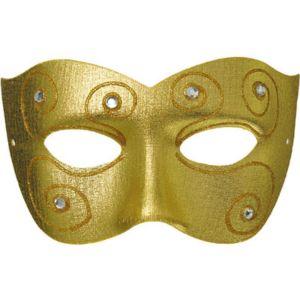 Gold Rheinlander Masquerade Mask