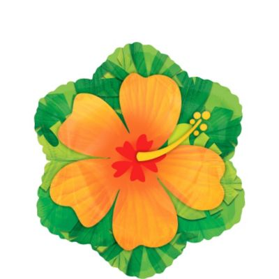 Orange Hibiscus Balloon