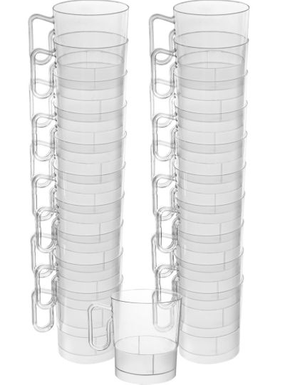 CLEAR Plastic Coffee Mugs 20ct