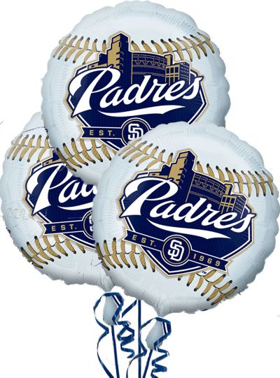 San Diego Padres Balloons 18in 3ct