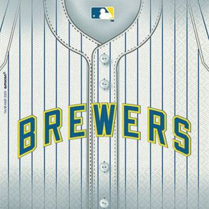 Milwaukee Brewers Lunch Napkins 36ct