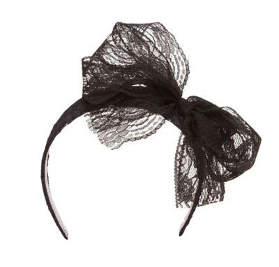 80s Black Headband