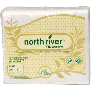 Eco-Friendly White Side-Fold Dinner Napkins 100ct