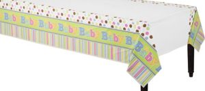 Tiny Bundle Baby Shower Plastic Table Cover