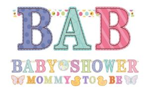 Tiny Bundle Baby Shower Banner Combo Pack 2pc