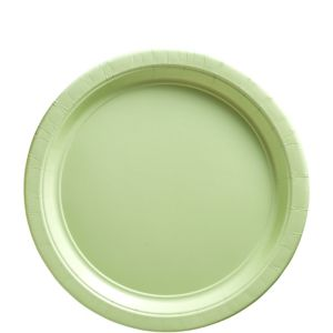 Leaf Green Paper Lunch Plates 20ct