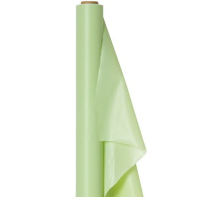 Leaf Green Plastic Table Cover Roll