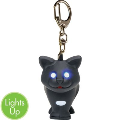 Black Cat LED Keychain