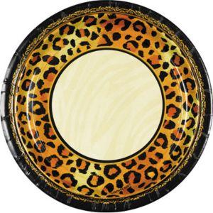 Leopard Print Dessert Plates 8ct
