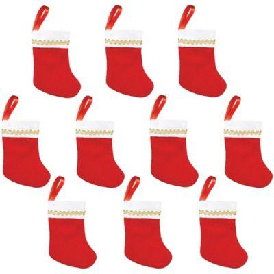 Felt Christmas Stockings 10ct