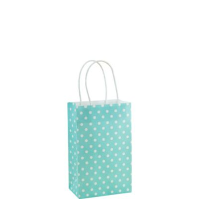 Light Blue Dot Mini Gift Bag