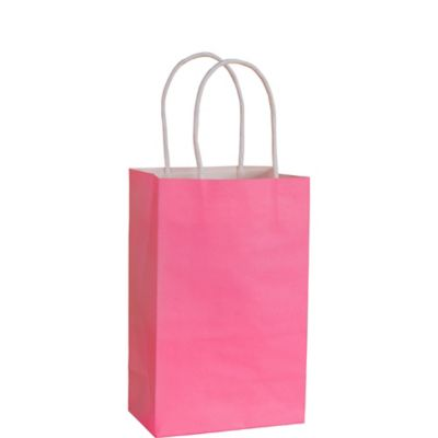 Bright Pink Kraft Bag