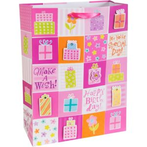 3D Pink Presents Gift Bag