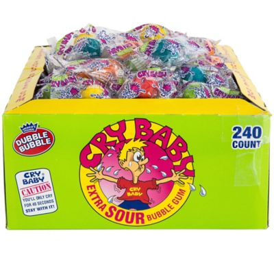 Extra Sour Cry Baby Bubble Gum 240ct