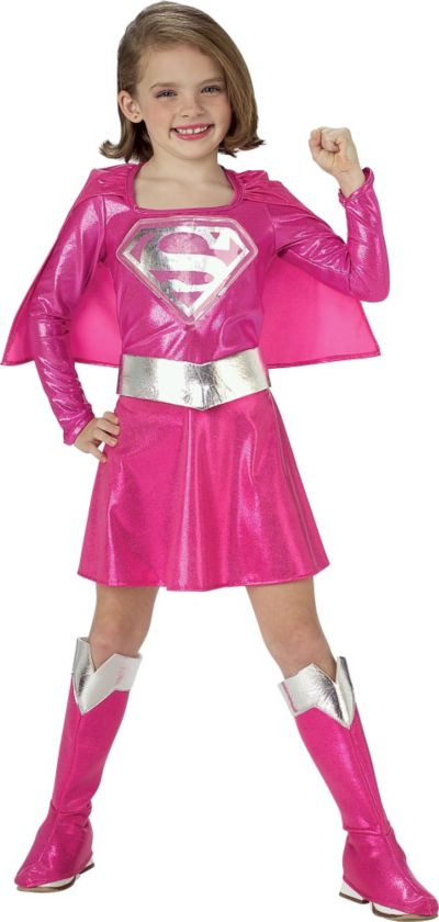 Toddler Girls Pink Supergirl Costume - Superman