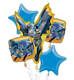 Happy Birthday Batman Balloon Bouquet 5pc