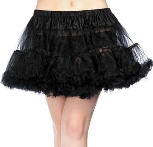 Adult Black Crinoline Petticoat Plus Size