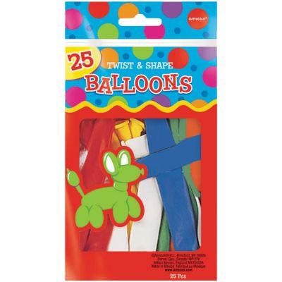 Animal Twist & Shape Balloons 25ct