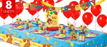 Curious George Super Party Kit for 8 Guests