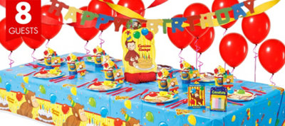 Curious George Party Supplies Super Party Kit