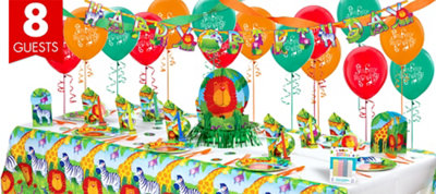 Jungle Animals Party Supplies Super Party Kit